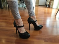 Sort skinn Bronx high heels, str 38 Kopervik, 4250
