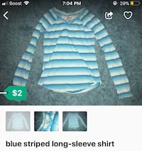 blue striped long-sleeve shirt Hyattsville, 20782