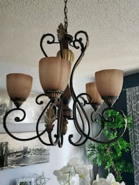 black metal framed uplight chandelier Virginia Beach, 23454