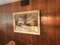 brown wooden framed painting of brown house Los Angeles, 90006