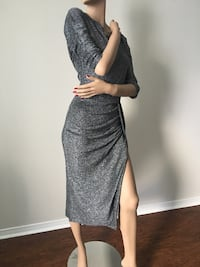 Sexy Metallic Shimmer Wrap Dress: Size Small (BNWT) Toronto, M1S 2Z1