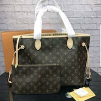 brown and white Louis Vuitton leather tote bag Lauderhill, 33313