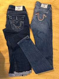 True religions size 25. Or size 1. $30 for both Bakersfield, 93311
