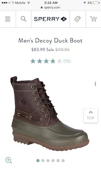 New Waterproof Sperry Boots - size 13 Bethesda, 20817