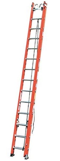 28' Fiberglass extension ladder with cable hooks Gaithersburg, 20878