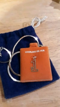 Sterling Silver #1 with small chain.   Victorville
