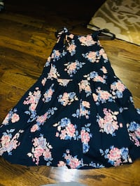 Black and pink floral sleeveless dress Forney, 75126