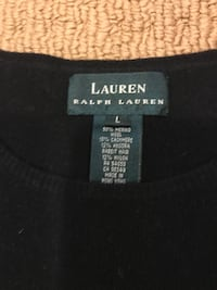 Ralph Lauren black wool short sleeve sweater size large Gaithersburg, 20879