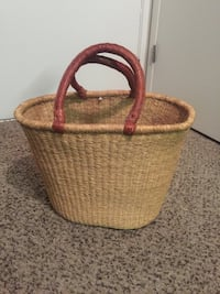Woven shopping basket Lombard