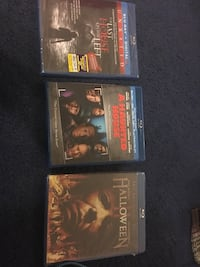 Blue ray disc all 3 for 15.00 new un open only 1 has been open  Houston, 77045