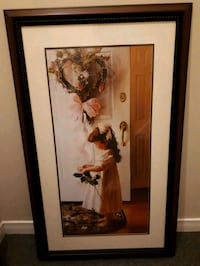 brown wooden framed painting of woman 546 km