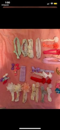 37 hair bows and clips