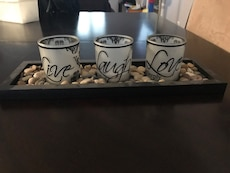Live Laugh and Love print tea light candle holders