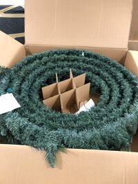 """48"""" pre-lit Frontgate Holiday Wreath Reston, 20194"""