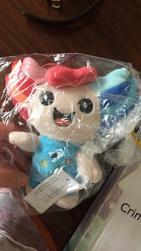 red and blue haired cartoon character plush toy 3730 km