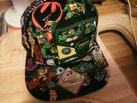 black, green, and pink floral backpack Eaton, 45320