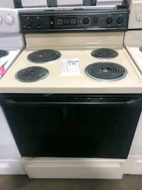 "GE BISQUE AND BLACK 30"" COIL TOP ELECTRIC STOVE $1 Hempstead, 11550"