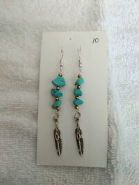 pair of silver and blue hook earrings Corpus Christi, 78404