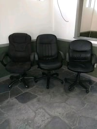 two black leather rolling armchairs Buffalo, 14210