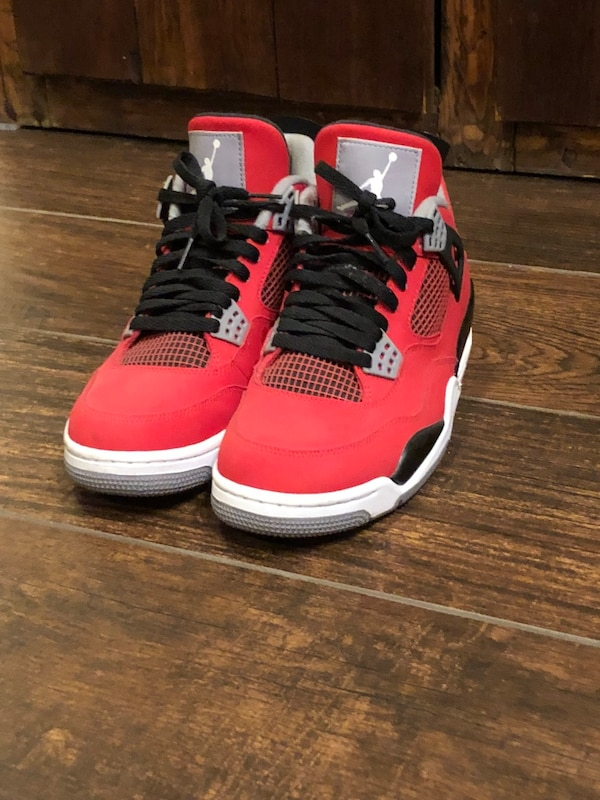 32504af0deea Used red-and-white Air Jordan 4 shoes for sale in Little Falls