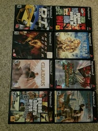 eight assorted PS2 game cases