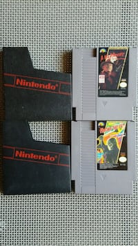 NES games A Nightmare on Elm St and Friday the 13t Gilbert, 85234