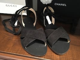 Brand New J Crew Flats with Ankle Ties