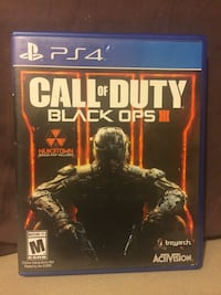 Call of Duty Black Ops 3 PS4 game case El Paso, 79924