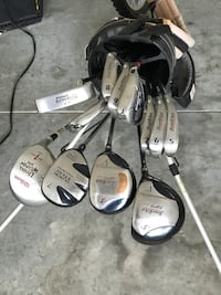 stainless steel golf club set with golf bag