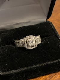 Engagement Ring & Wedding Bands Size 8, (Neil Lane Collection) Hooksett, 03106