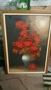 red and yellow petaled flower painting Philadelphia, 19140