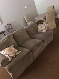 gray suede 3-seat sofa Mobile, 36609