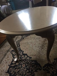 Faux finished gold stenciled coffee table 406 mi