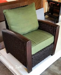 HEAVY  Wood and Rope indoor / outdoor chair.