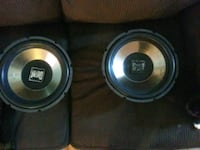 two black-and-gray subwoofers Parkersburg, 26101