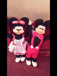 DISNEY Vintage Mickey and Minnie Mouse dolls PRICE DROP!