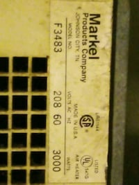 ...HEAT..Markel F3483..(f3480 series)..HEATER