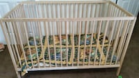 baby's ikea wooden crib with matres  Calgary, T3J 0A8