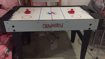 2 in 1 foosball and air hockey, great quality and super fun to play with.