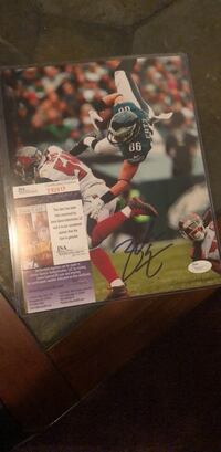 Original autographed  by Zach Ertz  picture  8 1/2 x 11 Calling with certificate of authenticity Williamstown, 08094