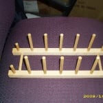 Wooden display rack to show plates,picture frames/books