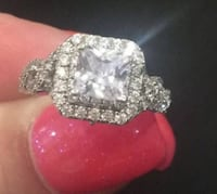 Diamond ring.  Silver.  Size 7.  Brand new.  Was a gift.  Appraised at $300.00. Mississauga, L5M 3Y5