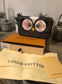 Louis Vuitton crossbody purse with one wallet and one  coins bag