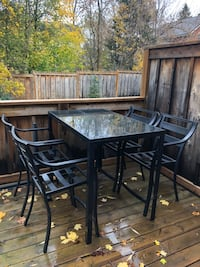 Outdoor high table and chair patio set