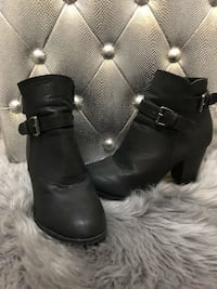 Cute Black Booties - Size 8