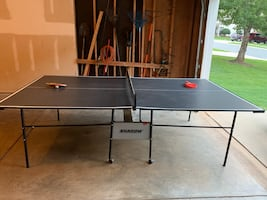 Shadow- Ping Pong table with 2 sets of paddles and balls included