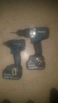 Makita brushless motor drill set with batteries  1956 km