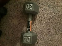 black and gray fixed weight dumbbell Madison, 53719