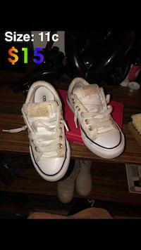 pair of white Converse All Star high-top sneakers Hoboken, 07030