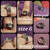 White gold  Betsey Johnson ring w/ crystal stones  Queen Creek, 85140